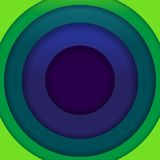 Abstract blue and green paper circles background Royalty Free Stock Image