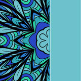 Blue-green pattern Stock Photography