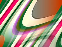 Abstract blue green pink orange fluid lines background, abstract colorful geometries. Abstract red blue pink brown green fluid geometries, lines, contrasting vector illustration