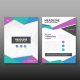 Abstract Blue green purple Vector annual report Leaflet Brochure Flyer template design, book cover layout design Royalty Free Stock Image