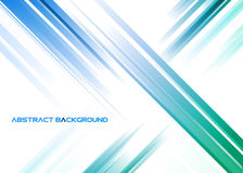 Abstract blue and green rays on white background Royalty Free Stock Image