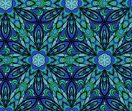 Blue-green seamless pattern Royalty Free Stock Images