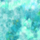 Abstract blue and green spattered paint background design Stock Images