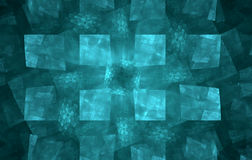 Abstract blue green squares Stock Image