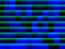 Abstract blue and green squares background Stock Photos