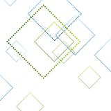 Abstract blue and green squares on white Stock Photo