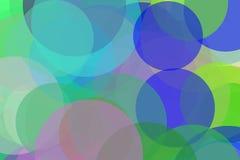 Abstract blue green violet circles illustration background. Abstract minimalist blue green violet illustration with circles useful as a background royalty free illustration