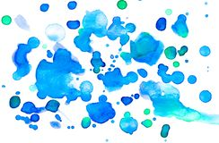 Abstract blue and green watercolor background. Photo stock image