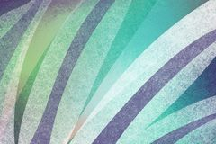 Abstract blue green and white background with textured stripe design element of curved shapes in layers, interesting geometric mod Stock Image
