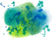Abstract blue, green, yellow spots Stock Image