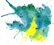 Abstract blue, green, yellow Stock Photo