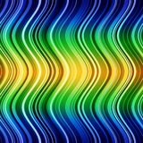 Abstract blue, green and yellow stripes waves Royalty Free Stock Photography