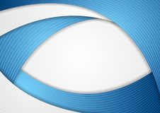Abstract blue corporate wavy vector background. Abstract blue and grey corporate wavy vector template background Stock Photography