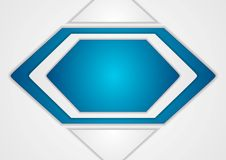 Abstract blue and grey vector background Stock Photography