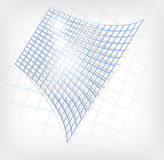 Abstract blue grid Stock Image