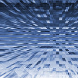Abstract: blue grid explosive Royalty Free Stock Image