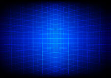 Abstract blue grid perspective technology background Royalty Free Stock Images