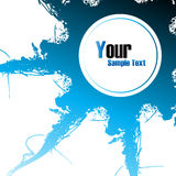 Abstract blue grunge background. Clip-art Stock Photo