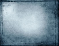 Abstract blue grunge background Stock Images