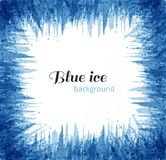 Abstract blue grunge background with place for your text. Blue ice on white background. Vector illustration. Abstract blue grunge background with place for your Stock Photo