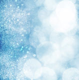 Abstract blue grunge bokeh background Stock Photo