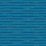 Abstract blue grunge stripes with orange lines Stock Image