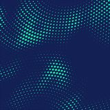 Abstract blue halftone dots background. Vector vector illustration