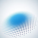 Abstract blue halftone spot background Royalty Free Stock Photography