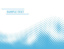 Abstract blue halftone wave Stock Image