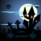 Abstract blue halloween background eps 10 Stock Images
