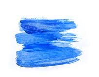 Abstract blue hand drawn acrylic painting creative art backgroun. D.Closeup shot of brushstrokes colorful acrylic paint on canvas with brush strokes overlap of Royalty Free Stock Image