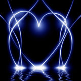 Abstract blue heart royalty free illustration