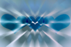 Abstract blue heart background (glass texture) Royalty Free Stock Images