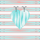 Abstract Blue Heart. Illustration of an abstract heart on a fence Vector Illustration