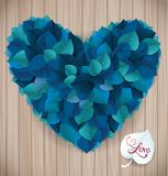 Abstract blue heart leaf vector background makes Stock Photos