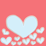 Abstract blue heart on pink background Stock Images