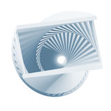 Abstract blue helix object isolated. On white background, 3d render illustration royalty free illustration