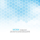 Abstract blue hexagon background with place for text EPS10 Royalty Free Stock Photo