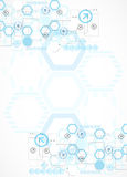 Abstract blue hexagon futuristic background for design works Royalty Free Stock Photography