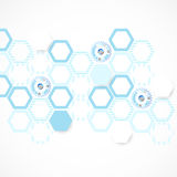Abstract blue hexagon futuristic background for design works Royalty Free Stock Image