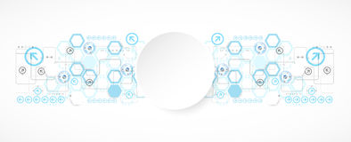Abstract blue hexagon futuristic background for design works Stock Image