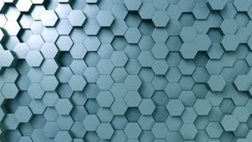 Abstract blue hexagonal background, 3D rendering. The abstract blue hexagonal background Stock Photo