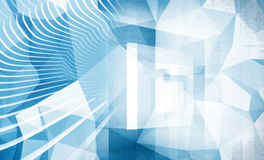Abstract blue hi technology background. Texture royalty free illustration