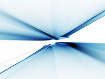 Abstract blue horizon stretching off to infinity vector illustration