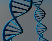 Abstract blue human dna illustration 3d Royalty Free Stock Photography