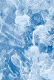 Abstract blue ice background Royalty Free Stock Image