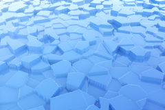 Abstract Blue Ice with Reflections background. 3d Rendering. Abstract Blue Ice with Reflections extreme closeup background. 3d Rendering stock illustration