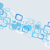 Abstract blue illustration. Vector Stock Image