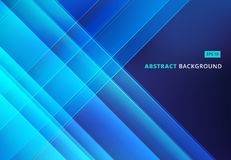 Abstract blue image that depicts technology with overlapping dia. Gonal lines. Vector illustration Royalty Free Stock Photo