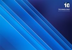 Abstract blue image that depicts technology with overlapping dia. Gonal lines. Vector illustration Royalty Free Stock Images
